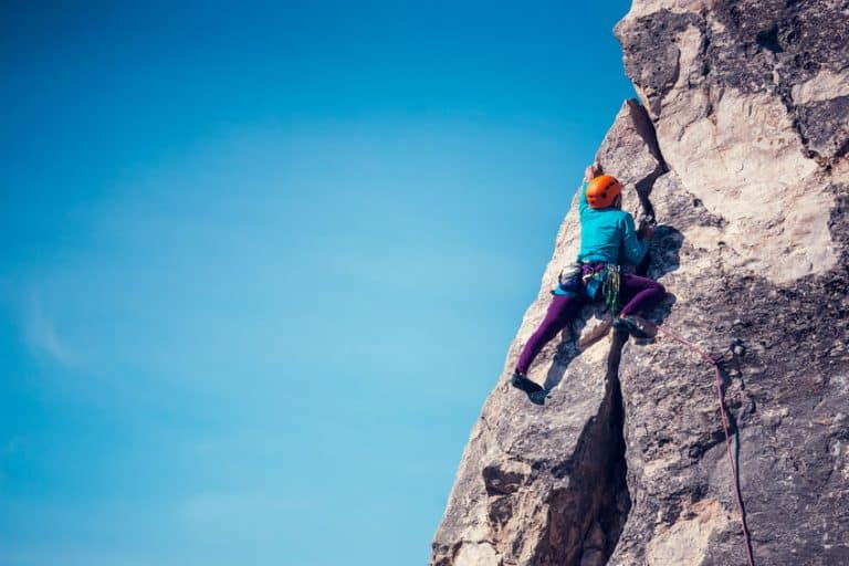Persona che si arrampica