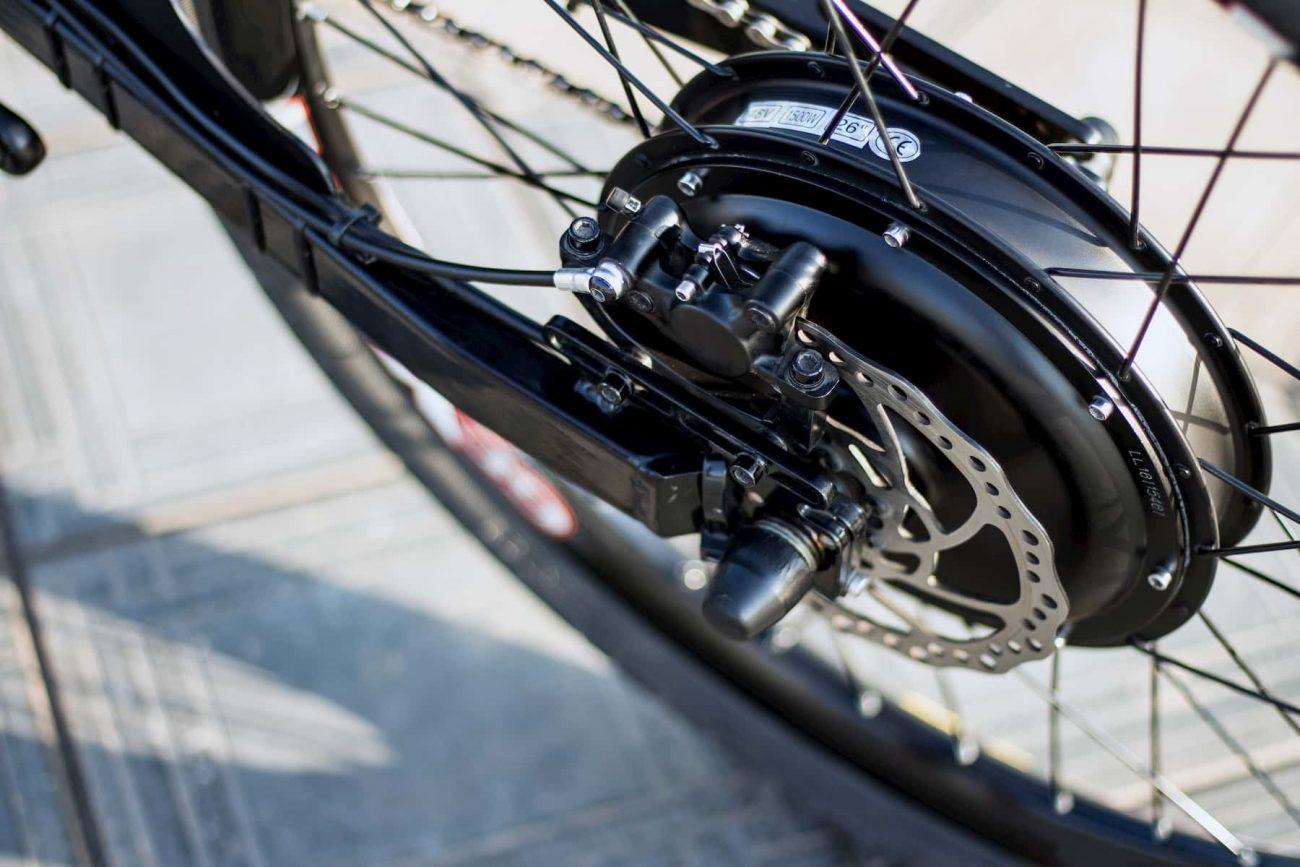 Particolare su una ruota di bicicletta