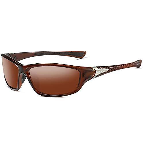 Grainas Occhiali da sole Polarizzati Uomo Donna Occhiali Sportivi Occhiali Protezione UV per Guida Sci Golf Corsa Ciclismo (Marrone)