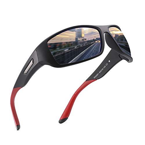 PUKCLAR Occhiali da Sole da Uomo e Donna Polarizzati - Materiale leggero TR90 Montatura Protezione UV400 Accessori con Custodia Rigida