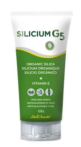 Silicium G5 Gel. Silicio con Vitamina E che Stimola Collagene Naturale. Gel Dolori Articolari e Muscolari Ossei, Antinfiammatorio Naturale, Gel Rigenerante Rassodante della Pelle. 150 Ml.