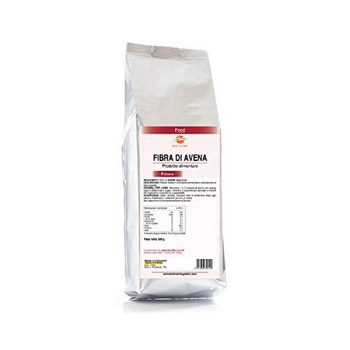 Fibra di Avena - Alimento a base di fibra di Avena in polvere, Busta da 500 g