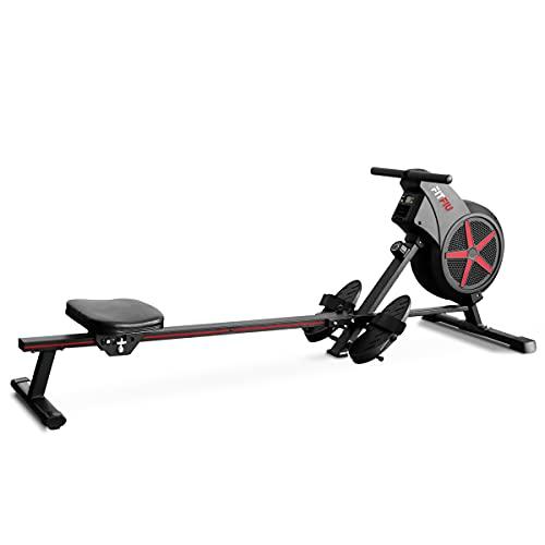 FITFIU Fitness RA-100 - Vogatore pieghevole, resistenza all'aria, sedile imbottito, vogatore per cardio e cross training a casa, peso massimo utente 110kg