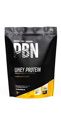 PBN - Premium Body Nutrition Siero di Latte in Polvere, 1 Kg, Gusto Arachidi e Cioccolato