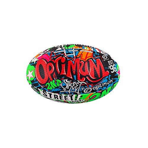 OPTIMUM 2nd Ball, Pallone da Rugby II da Uomo, Multicolore, Mini Unisex-Adult, Street Art