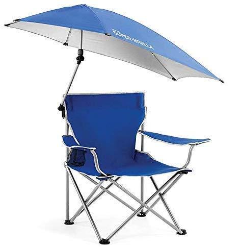 Sedia parasole,Sedia pieghevole da campeggio pieghevole con baldacchino, sedia pieghevole da esterno portatile con ombrello rimovibile,Per campeggio all'aperto, sedia da pesca