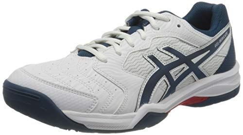 ASICS Gel-Dedicate 6, Scarpe da Tennis Uomo, White/MAKO Blue, 42.5 EU