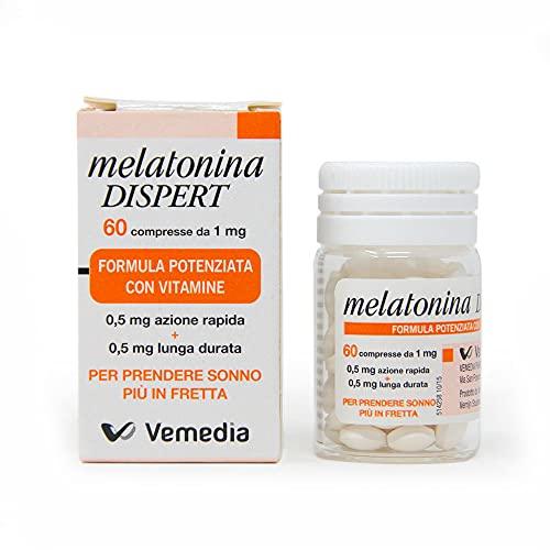 Melatonina Dispert | Riposo Migliore | Per Prendere Sonno Più In Fretta | A Base Di Melatonina E Arricchito Con Vitamine, color Bianco, 60 Unità