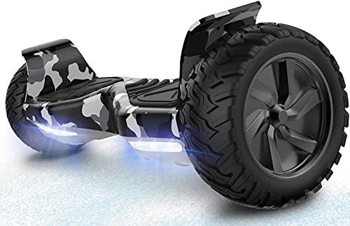 RCB Hoverboards Scooter Elettrico Fuoristrada Scooter 8.5'' Hummer LED Bluetooth Integrato con Motore Potente
