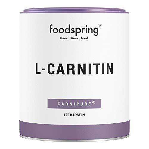 foodpring L-Carnitina, 120 capsule, Integratore vegano ideale per l'allenamento con 1000 mg di Carnipure per 100 g