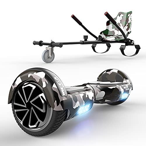 Hoverboard da 6,5 Pollici per Bambini e Adulti, Hoverboards Smart Scooter Auto Bilanciamento Bluetooth Elettrico e LED Multicolor E-Skateboard Auto Balance