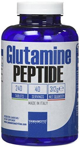 Yamamoto Nutrition Glutamine PEPTIDE integratore alimentare di Glutammina in forma peptidica 240 compresse