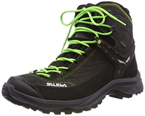 Salewa MS Hike Trainer Mid Gore-TEX, Scarponi da trekking e da escursionismo Uomo, Nero (Black Out/Green), 43 EU