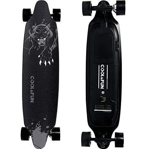 RCB Skateboard Elettrico con 4 Ruote Skateboard con Telecomando Motore Potente Longboard