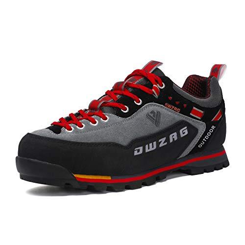 Scarpe da Trekking Uomo Respirabile Sportive Escursionismo Scarpe da Montagna Sneakers Passeggiata Rosso 42 EU