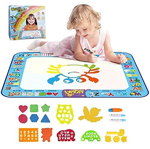 Smyidel Tappetino Aqua Magic Doodle, Grande Tappeto da Disegno per Acqua 40X30 Pollici, Giocattoli educativi e Regali per Bambini, Ragazzi, Ragazze, 2 Anni 4 3 6 6 7 8 Anni
