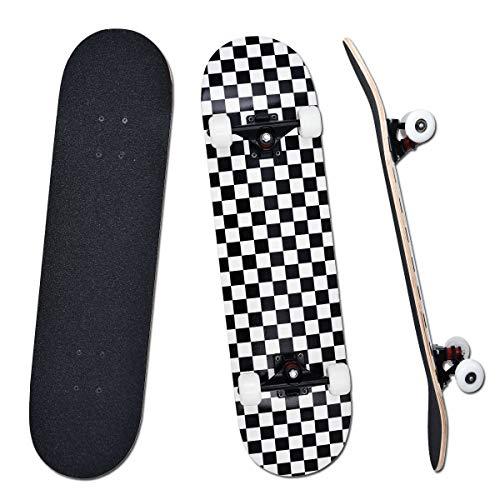YUDOXN Completo Skateboard per Principianti, Bambini, Giovani e Adulti. skateboard adulto. 31