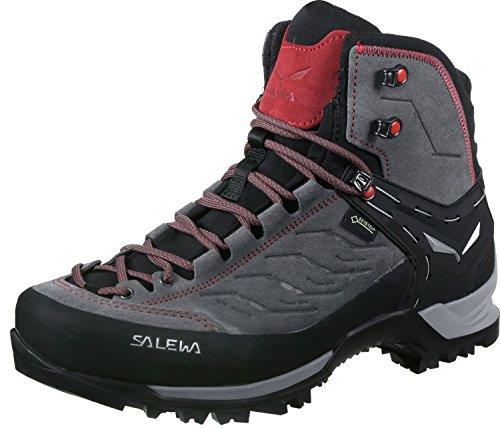 Salewa MS Mountain Trainer Mid Gore-TEX Scarponi da trekking e da escursionismo, Charcoal/Papavero, 43 EU