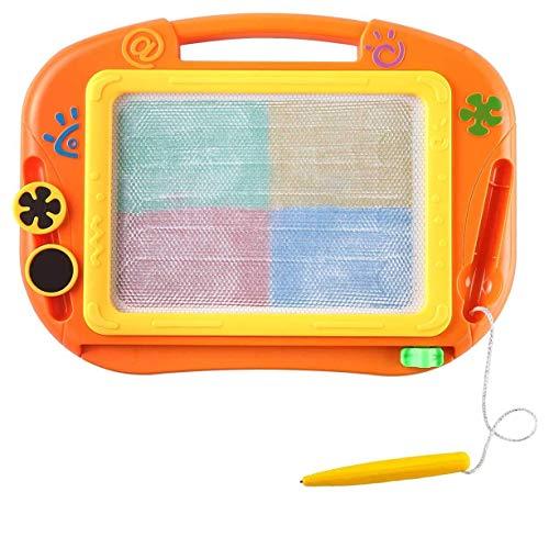 Tavolo da Disegno Magnetico con 2 francobolli - Cancellabile colorato Doodle Sketch Board & Pen, Educazione prescolare e Giocattolo educativo per Bambini da 2 Anni 32 * 23 * 2 cm