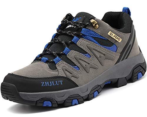 Lvptsh Scarpe da Trekking Donna Uomo Antiscivolo Scarpe da Escursionismo Scarponi da Montagna Traspiranti Passeggiate Stivali per Esterni Arrampicata Sportive All'aperto Sneakers,Grigio,EU44