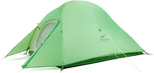 Naturehike Nuovo Cloud-up 2 Persona Tenda Aggiornata Doppio Strato Tenda Tende da Escursioni (210T Verde)