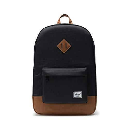 Herschel Retreat Classics Rucksack Unisex, Black/Tan Synthetic Leather Backpack, Einheitsgröße, 10007-00055-OS