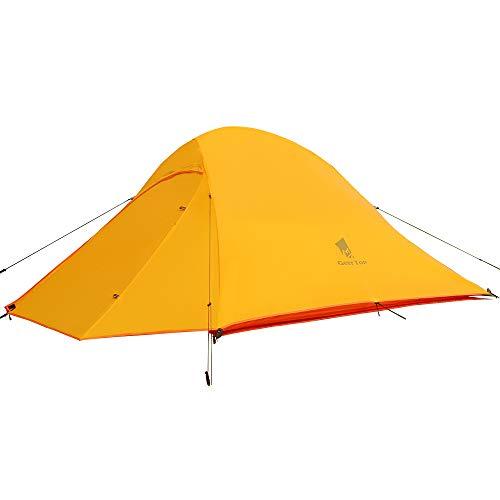 GEERTOP Tenda Campeggio 2 posti, 3-4 Stagioni Doppio Strato Tenda a Cupola, Ultralight Impermeabile per All'aperto Trekking Zaino