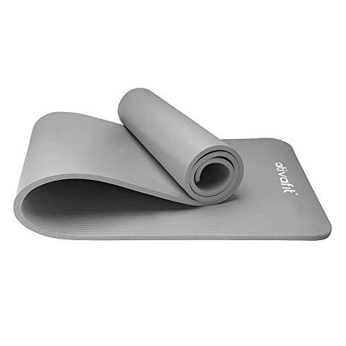 ATIVAFIT Tappetino Grande per Yoga, Allenamento e Pilates, con Imbottitura Ultra Spessa da 10mm, Antiscivolo