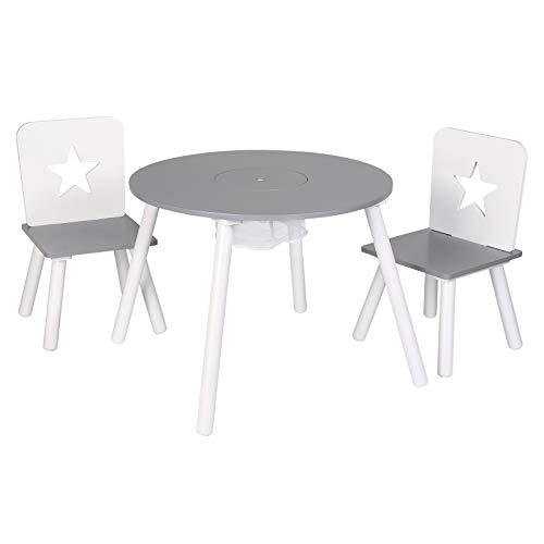 WOLTU Tavolo da Gioco per Bambini Cameretta Scrivania da Pittura Bambi Tavolino con 2 Sedie per Soggiorno SG012