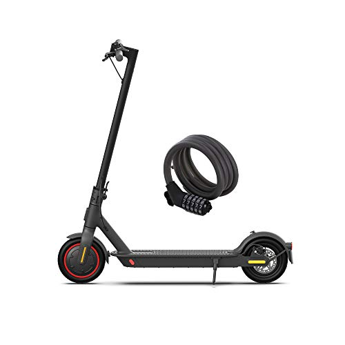 Xiaomi Mi Electric Scooter Pro 2, Monopattino Elettrico, Versione Amazon con Lucchetto Incluso, 45 Km di Autonomia, Velocità fino a 25 Km/h, Sistema KERS e doppi freni a disco, Nero, Versione Italiana