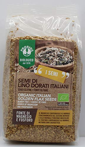 Probios Semi di Lino Dorati Bio Senza Glutine - Confezione da 6 x 500 g