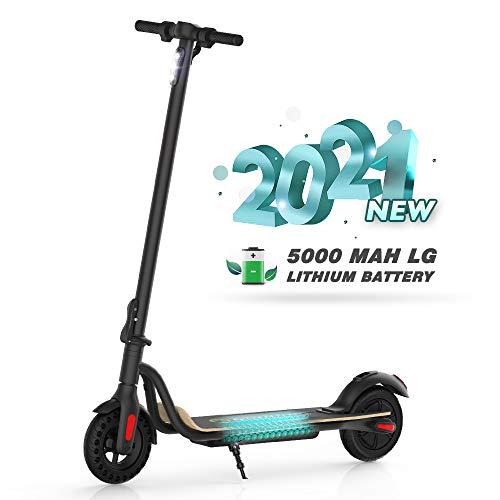M MEGAWHEELS Electric Scooter,Monopattino Elettrico,pieghevole e regolabile in altezza,Motore da 250 W 15 Km di Autonomia,Velocità fino a 23 Km/h,Sistemae doppi freni a disco(NeroS10-5.0)