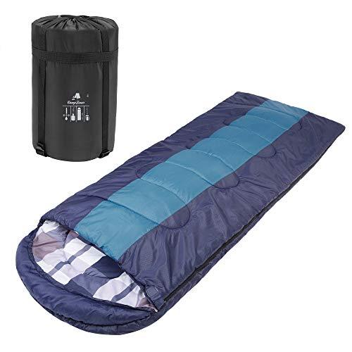 CampFeuer Sacco a Pelo per Adulti   220 x 85 cm   per Campeggio e attività all'aperto (Navy/Blu)