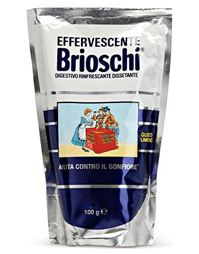 Brioschi - Compresse Effervescenti al Gusto di Limone - Digestivo Rinfrescante e Dissetante, Aiuta contro il Gonfiore e la Pesantezza - Confezione in Busta da 100 gr