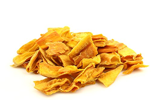 Strisce Di Mango Essiccato Biologico Senza Zucchero 1Kg Qualità Superiore. Chips Secchi Di Mango Disidratato, Semplicemente Frutta Disidratata Bio, Senza Zucchero, Vegano, Gusto Extra Sano,Dorimed