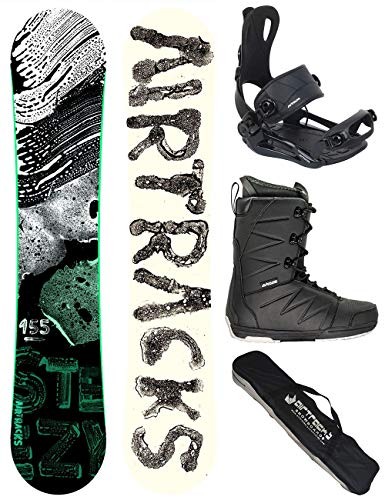 Airtracks Snowboard Set - TAVOLA STEEZY Wide Uomo 160 - ATTACCHI Master - Softboots Strong 44 - SB Bag