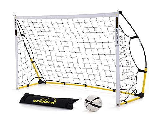 Quickplay Kickster Academy Porte di Calcio 2.4 x 1.5M - L'obiettivo di Calcio Ultra Portatile Include Rete da Calcio e Borsa da Trasporto [Obiettivo Singolo]