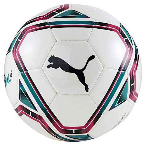 PUMA teamFINAL 21.6 MS Ball, Pallone da Calcio Unisex-Adult, White-Rose Red-Ocean Depths Black, 5