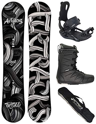 Airtracks Snowboard Set - TAVOLA Twisted Wide 150 - ATTACCHI Master - Softboots Star Black 40 - SB Bag